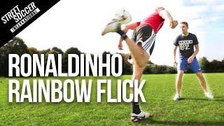 Learn Football skills - Crazy Ronaldinho Thigh Rainbow flick