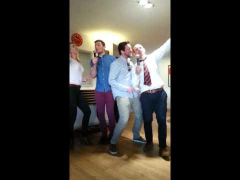 Karaoke night at Bredon RFC. Don't stop, believing!