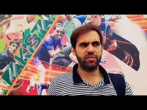 Islamabad : Pakistani Squash player farhan mehboob on international sporting events, Sportswire Paki