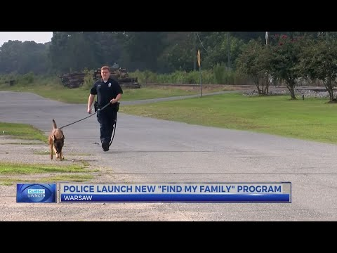 Warsaw Police Dept. debuts 'Find My Family' scent tracking program