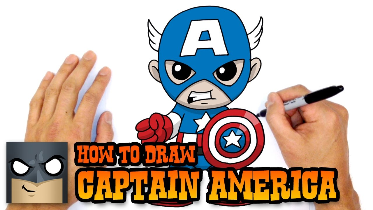 Learn How To Draw Falcon From Captain America Civil War: How To Draw Captain America