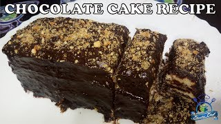 Easy no bake chocolate cake recipe | biscuit cake |SHEEBA CHEF
