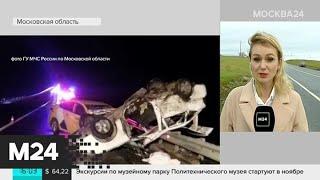 Смотреть видео Пострадавшие в аварии под Каширой находятся в тяжелом состоянии - Москва 24 онлайн