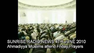Sunrise Radio News Ahmadiyya Muslims Attend Friday Prayers Interview with Ahmad Salam