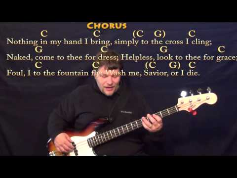 Rock of Ages - Bass Guitar Cover Lesson in C with Chords/Lyrics