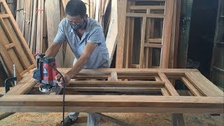 Amazing Project Processing Hardwood - Building Wooden Door Fast and Easy, How To, DIY