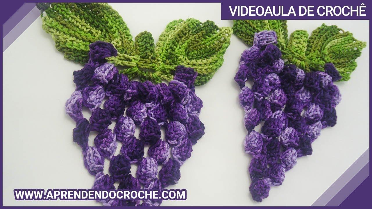 Motivo Cacho de Uvas em Croch  Aprendendo Croch  YouTube
