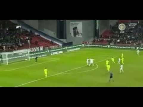 Gol de Federico Santander al Esbjerg en Dinamarca (@Albirroja)