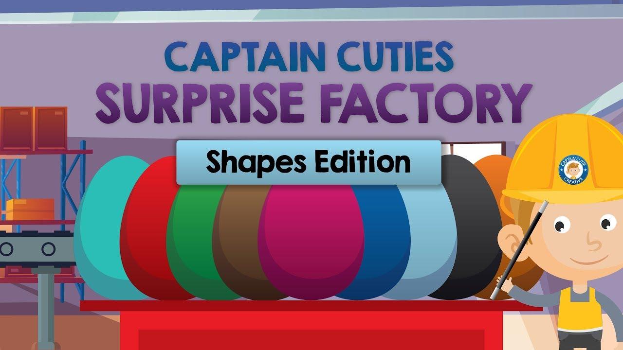 Surprise Eggs Shape Factory - Shape Edition - Cartoon Surprise Egg Opening