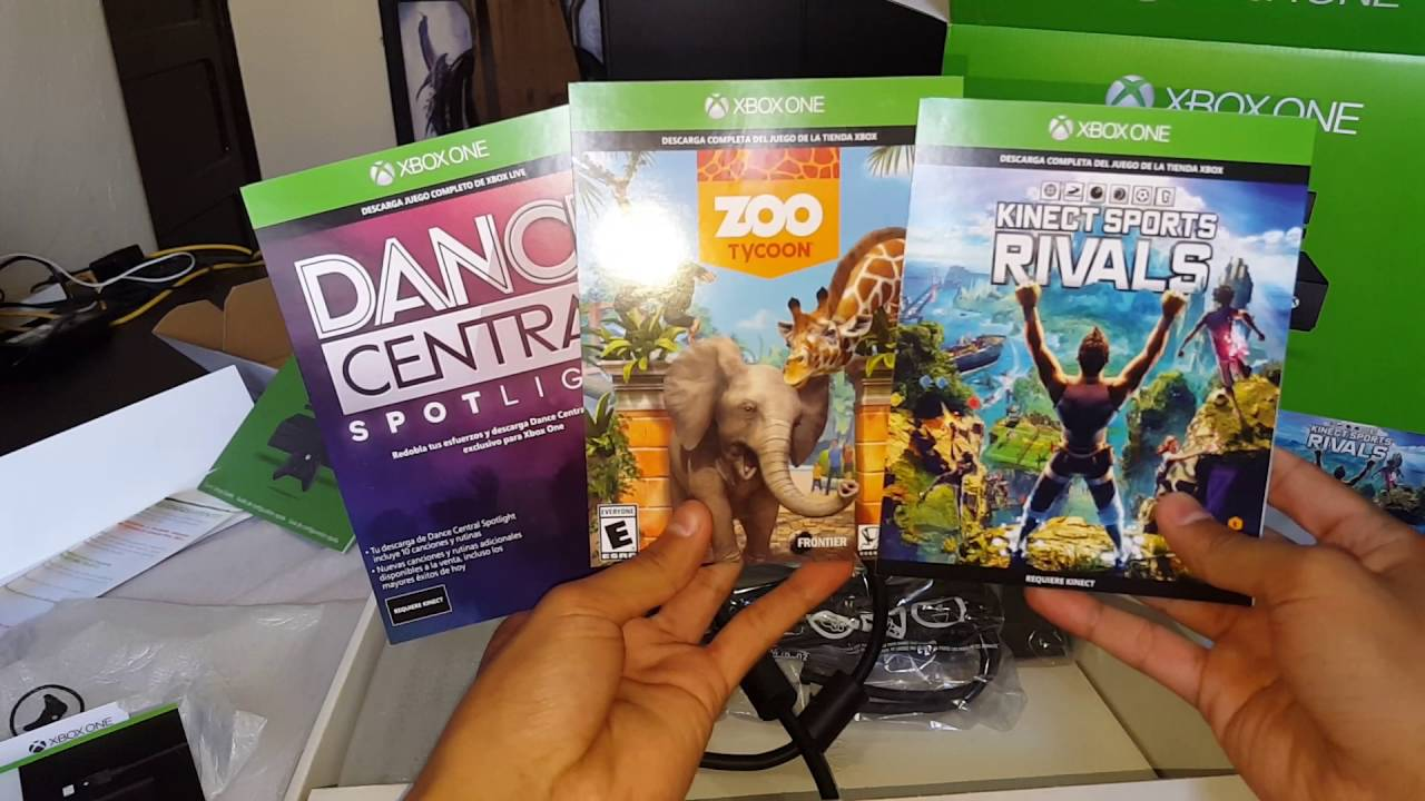 Unboxing Xbox One 3 Juegos Kinect Youtube