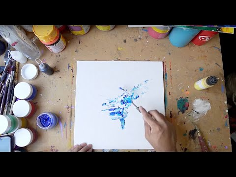 Abstract Painting Technique | Fine Art | Demo | Acrylic Art Series  Video 11