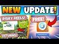*NEW* RISKY REELS RETURNING + FREE V-BUCKS!? (Fortnite Season 10 Update)