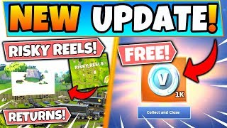 *NEW* RISKY REELS RETURNING + FREE V-BUCKS!? (Fortnite Season 10 Update)