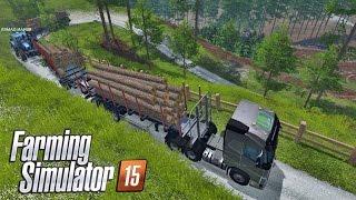 farming simulator 2015 carga gigante de madeira volvo fh16
