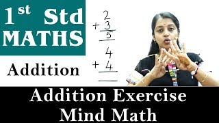 Mathematics For Class 1   Addition   Addition Exercise - Mind Math   Maths For Kids