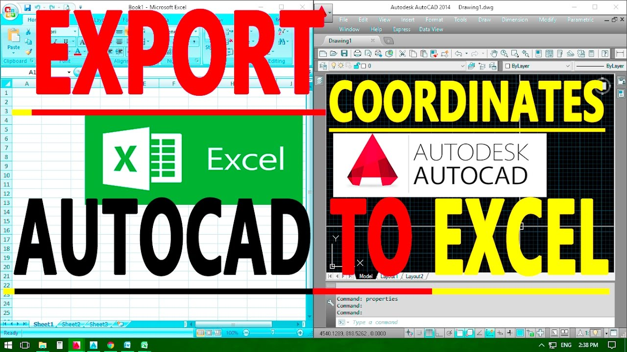How to Export AutoCAD Coordinates for Polyline and Points to MS Excel -  AutoCAD Online Tutorial