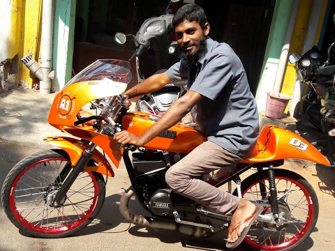 Race Bike Test Drive   AK 57 Model Bike   Chennai Race Bike