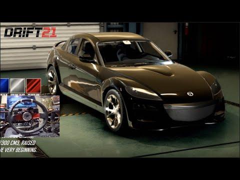DRIFT21 GoPro - NEW Mazda RX8 And Testing FFB UPDATE!!