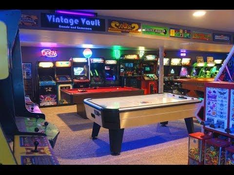 The Basement Arcade Vintage Vault Arcade Tour 2015 Youtube