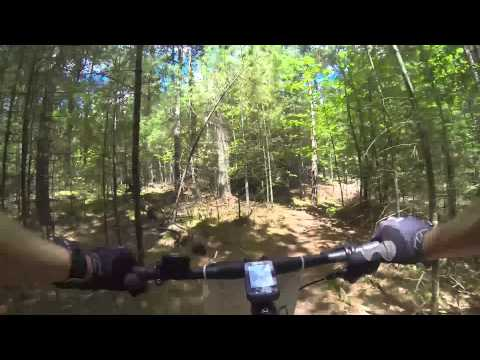 Sec15 - single track - chest cam - inbound - Wilmington Whiteface 100k