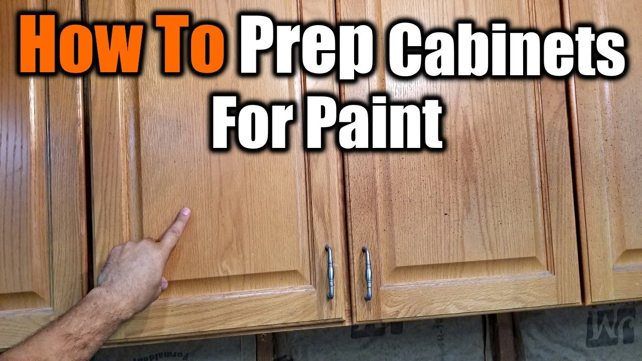 How To Prepare Cabinets For Paint The Handyman You
