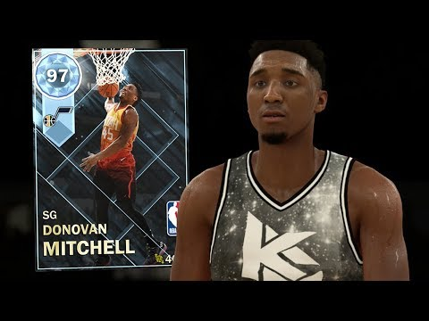 DIAMOND DONOVAN MITCHELL GAMEPLAY!! CRAZY STATS! (NBA 2K18 MYTEAM)