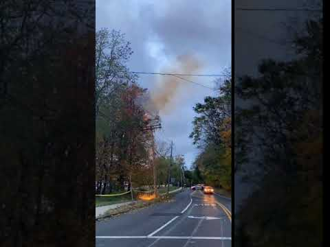 Video: Tree Limb Crashes Onto Wires On Route 306 Amid Gusty Winds After Storm