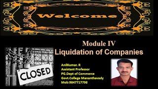 Liquidation of Companies