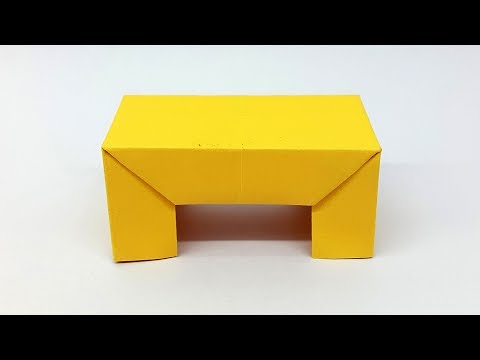 How To Make A Paper Table - Easy Origami Table (Paper Furniture) Making Tutorial