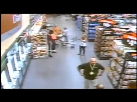 2 year old held hostage at knife point by deranged man while mother watches in a Walmart.