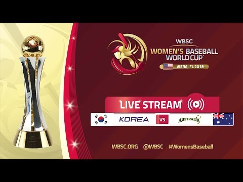 Korea v Australia - Placement Round - Women's Baseball World Cup 2018