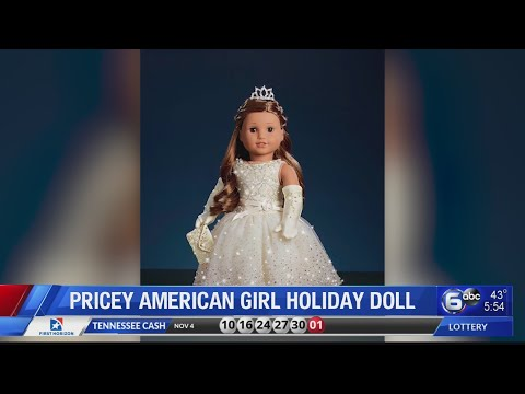 American Girl's Holiday Doll Features A Dress Adorned With 5,000 Crystals