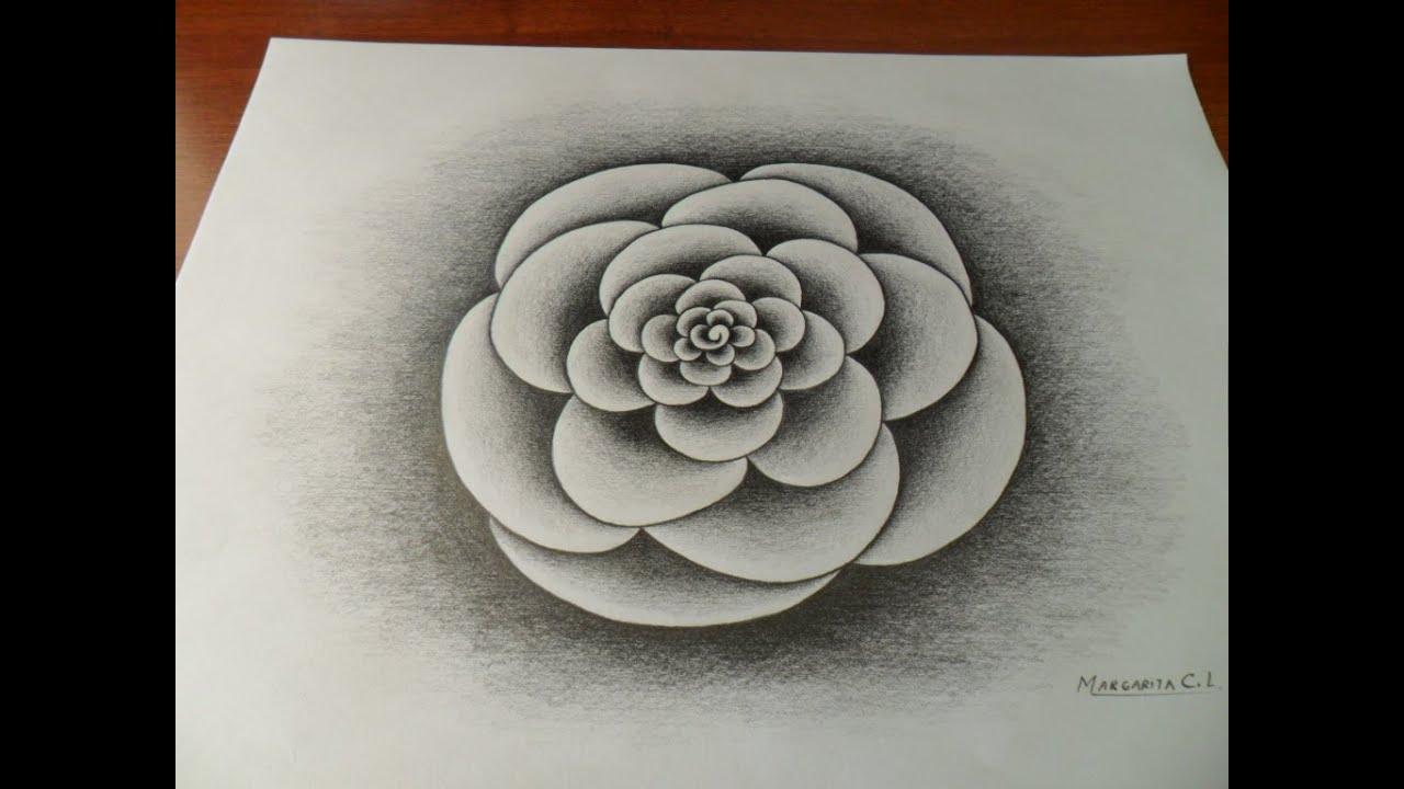 Dibujo De Un Mandala Usando El Degradado Del Lápizcon 6bsin