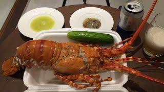 Ăn con Tôm hùm no banh bụng, đứng lên không nổi luôn || Eating Rock Lobster