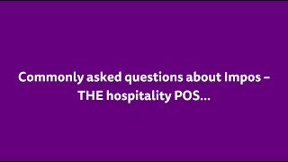 Some frequently asked questions surrounding general point of sale and the impos system. these include around cloud server based pos, hard...