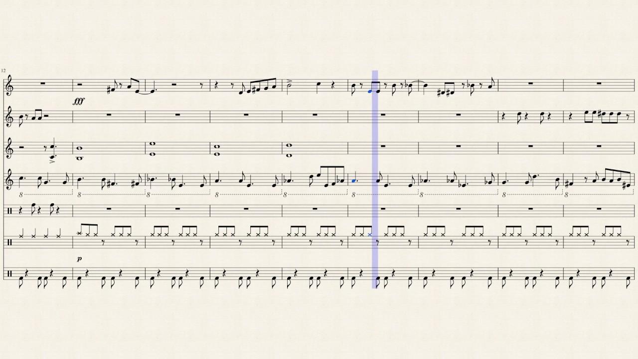 Wii Shop Channel Percussion Ensemble *Sheet Music