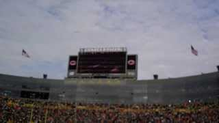 Kesler DeRuyter national anthem at Lambeau Field