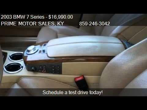 2003 bmw 7 series 745li for sale in lexington ky 40505 for Prime motors lexington ky
