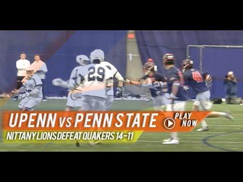 Pennsylvania vs Penn State   2015 College Lacrosse Highlights