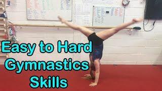 Easy to Hard Gymnąstics Skills   KTGymnasticsFan