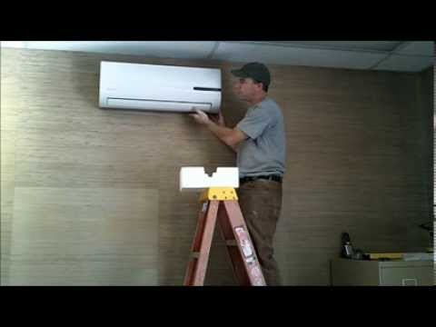 Ductlessaire Ductless Mini Split Heat Pump Installation Part 1  YouTube
