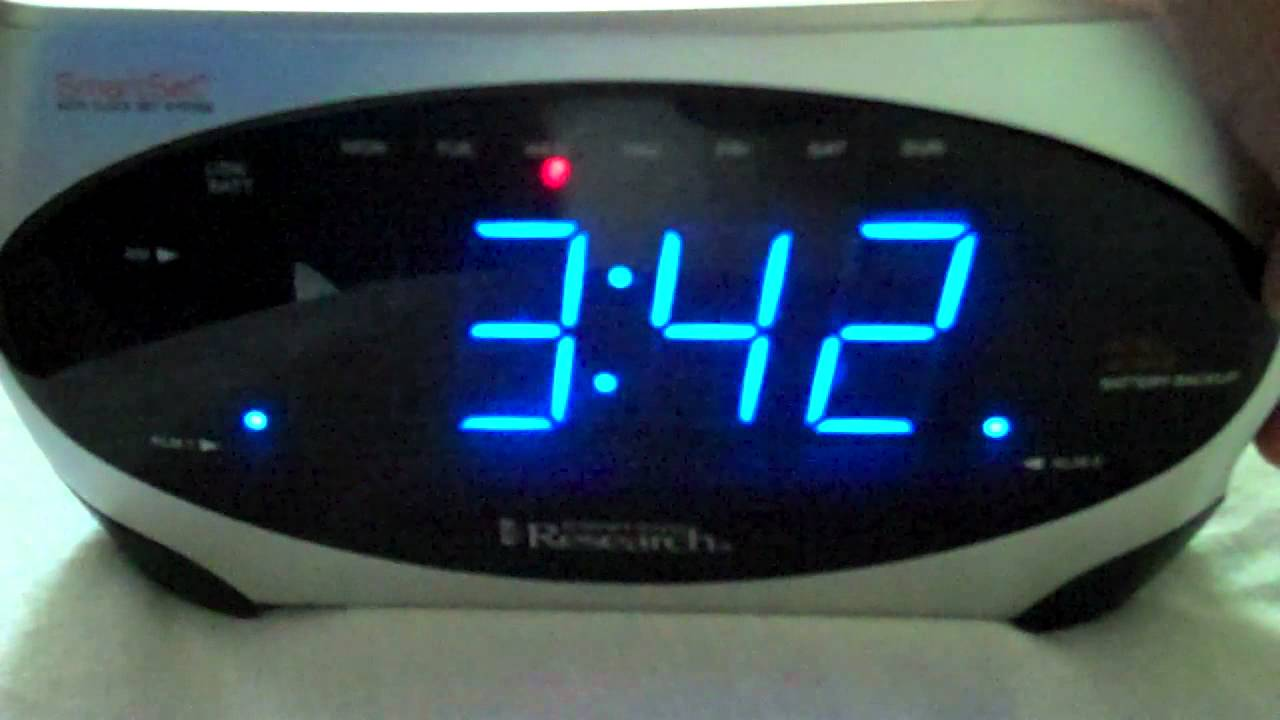 2007 emerson research smartset alarm clock radio youtube rh youtube com Emerson SmartSet Clock Radio CKS9031 Emerson SmartSet Projection Clock Radio