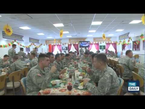 Thanksgiving at the Army's Fort Bragg with the 82nd Airborne Division