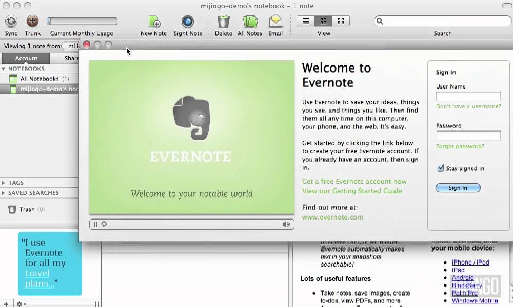 Evernote How to: Installing Evernote