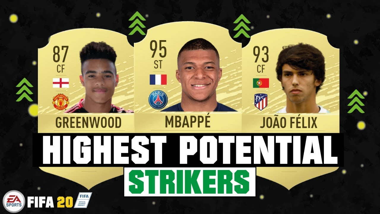 Fifa 20 Best Young Players On Career Mode Highest Potential Strikers Cf St Youtube