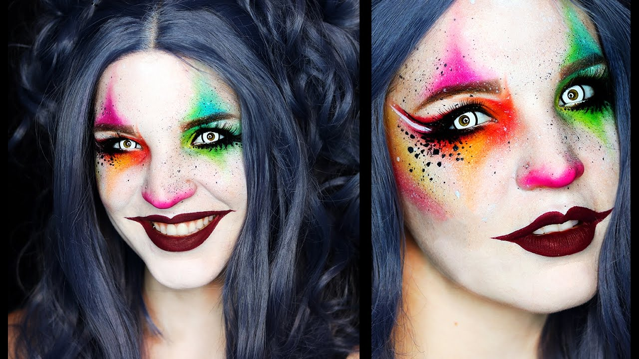 harlequin clown makeup tutorial saubhaya makeup. Black Bedroom Furniture Sets. Home Design Ideas