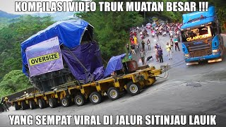 Download VIRAALLL !!! Kompilasi Video Truk Muatan Paling Berat di Tanjakan Sitinjau Lauik