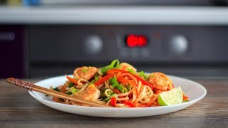 лапша удон с креветками (WOK)  Udon noodles with shrimps
