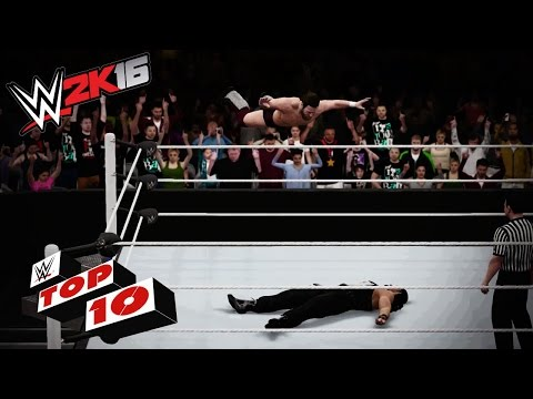 Top 10 High Flying Moves Off the Top Rope: WWE 2K16 Top 10