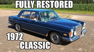 Mercedes 280S W108 1972 fully restored Review & Test JMSpeedshop !
